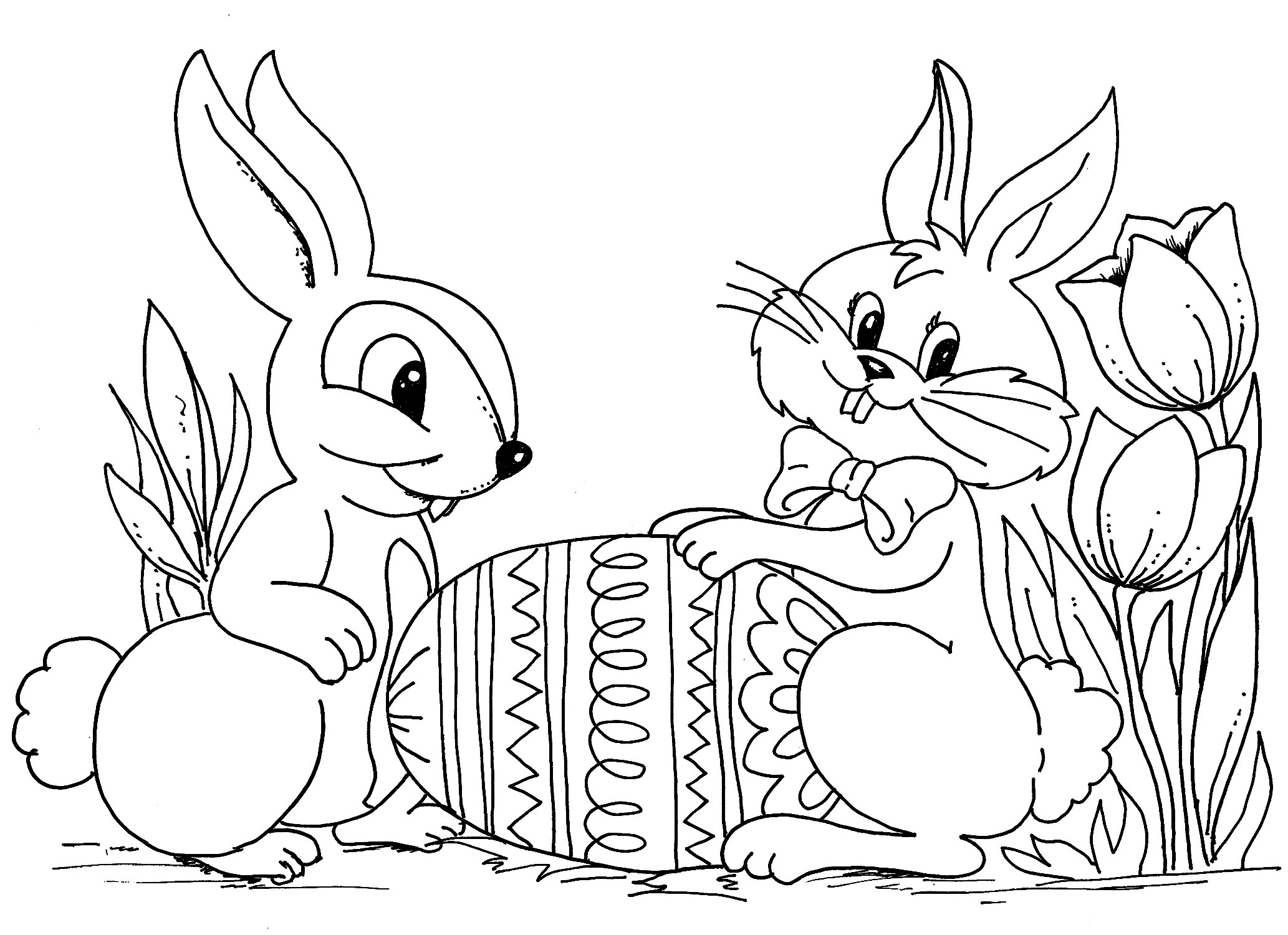 2066x1500 Easter Images To Colour For Kids Day Pinterest Bunny Coloring