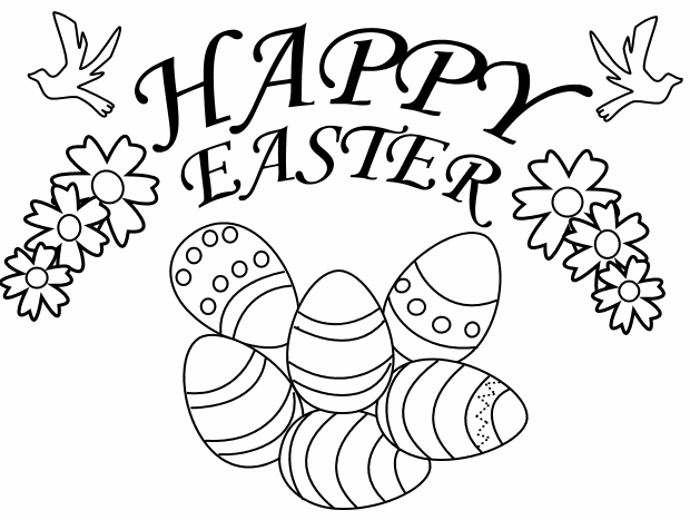 620x467 Happy Easter Coloring Page Amp Book