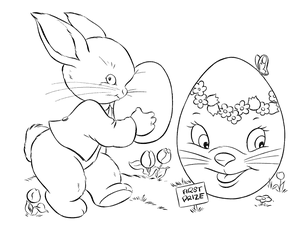 easter drawing - Coloring Pages Of Easter Eggs