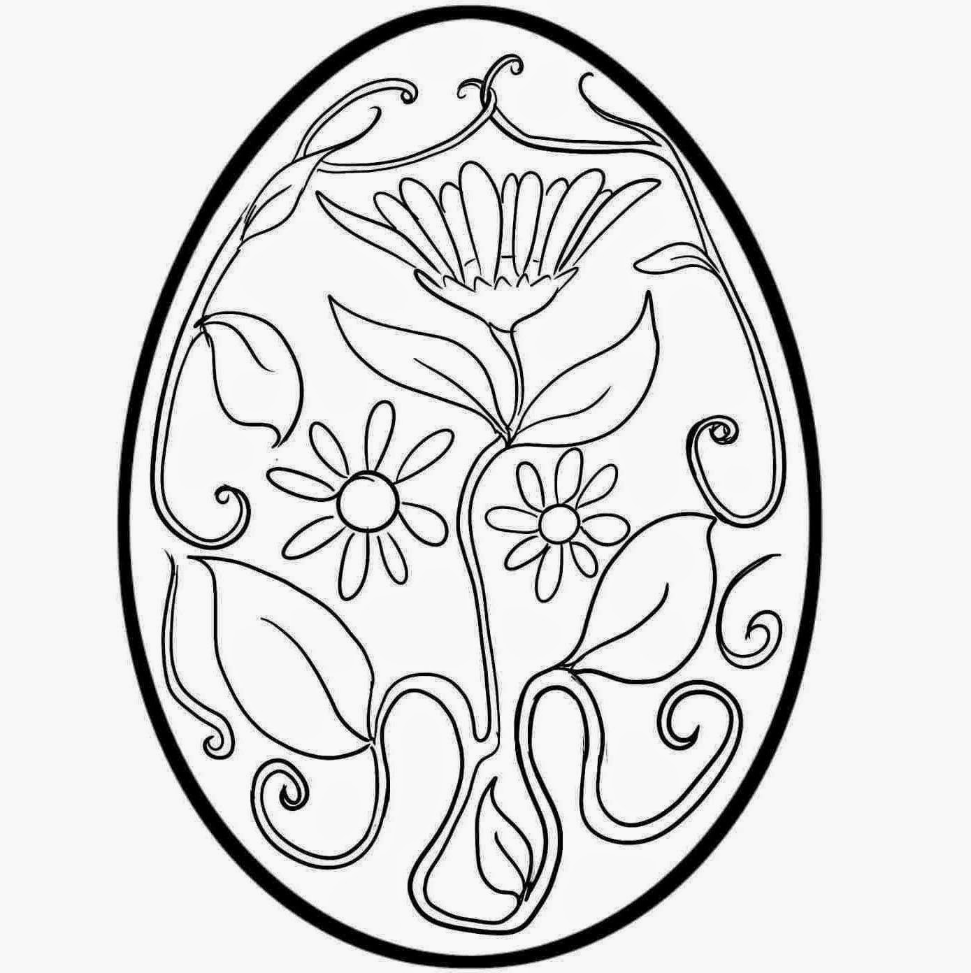 1389x1392 Colour Drawing Free Wallpaper Printable Easter Egg For Kid