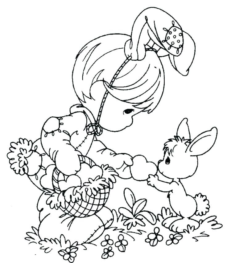 736x854 Printable Easter Coloring Pages Free
