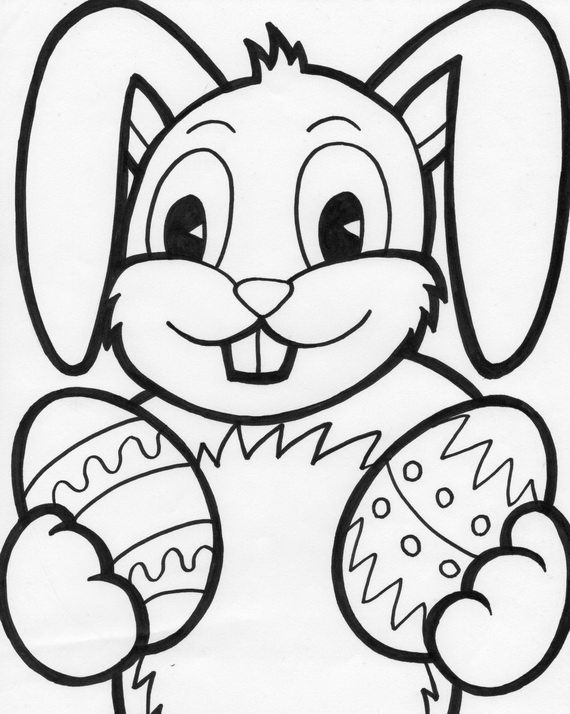 570x714 easter bunny coloring pages for kids - Printable Easter Coloring Pages