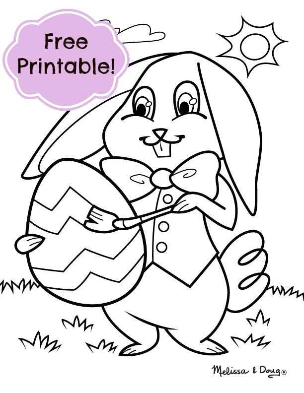 612x792 free easter bunny coloring pages as bunny coloring pages for kids - Easter Bunny Coloring Pages To Print