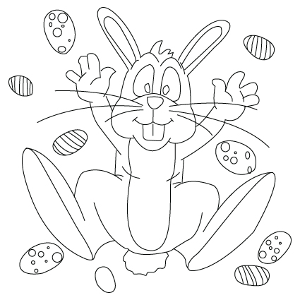 425x425 Easter Bunny Drawing Childrens Drawings