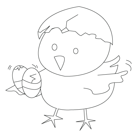 450x450 Easter Chick Drawing Childrens Drawings