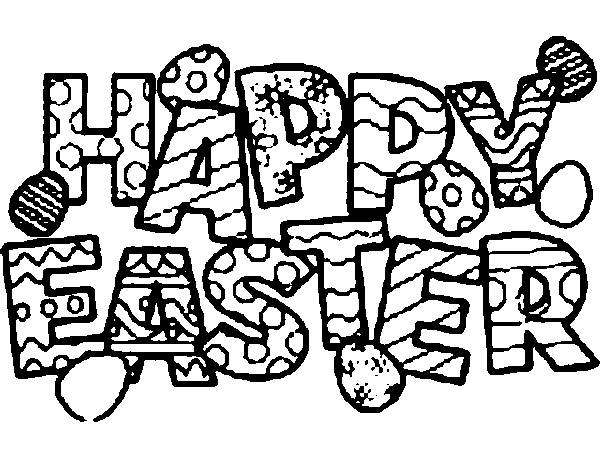 600x450 Happy Easter 2014 Pictures To Colour, Draw, Print, Coloring Pages