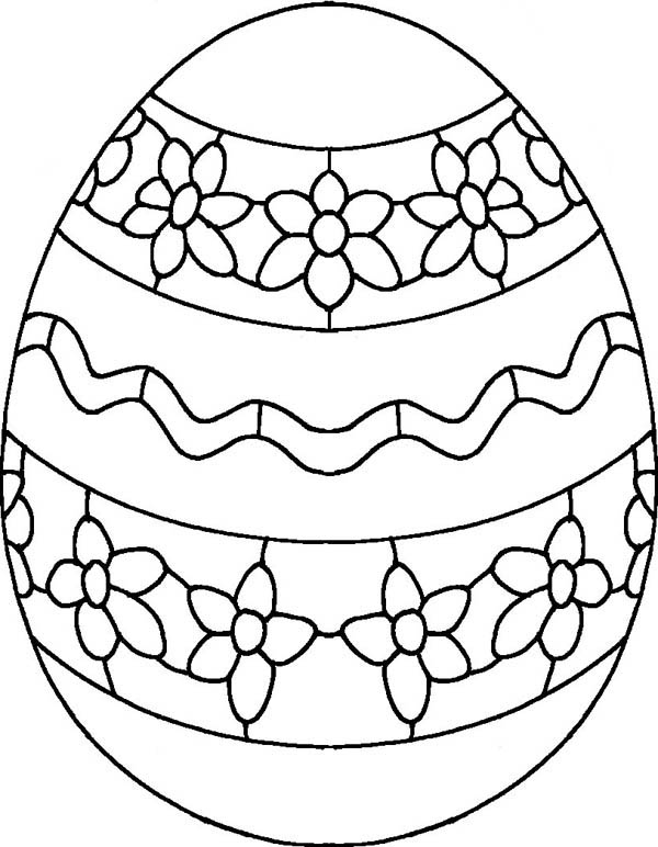 600x772 Draw Flower On Easter Egg Coloring Pages Batch Coloring