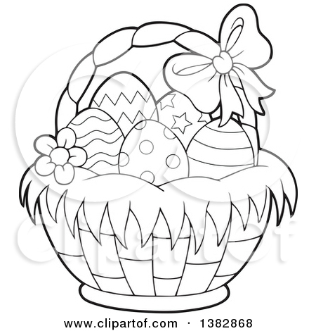 450x470 Easter Egg Basket Drawings Happy Easter 2018