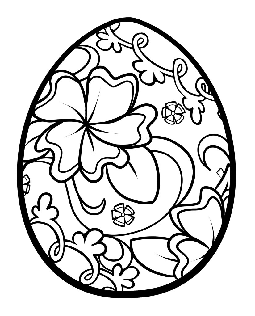 826x1023 Easter Egg Coloring Page Preschool To Tiny Draw Printable