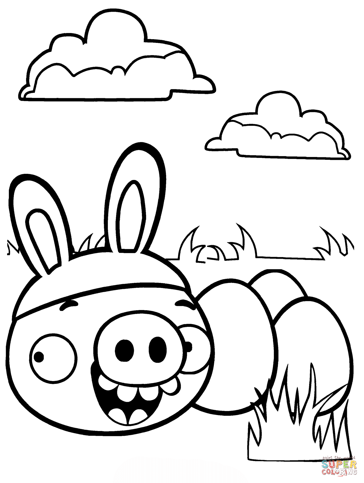 1188x1578 Minion Pig Stealing Easter Eggs Coloring Page Free Printable
