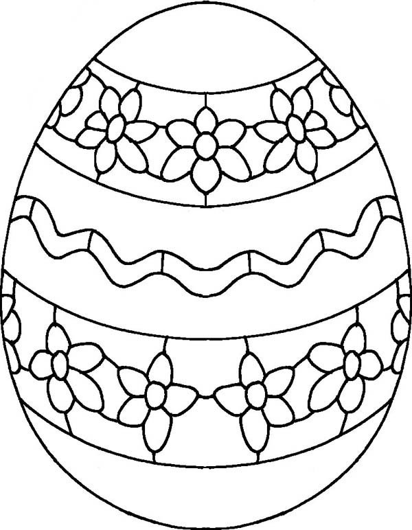 600x772 Draw Flower On Easter Egg Coloring Pages Forever Coloring