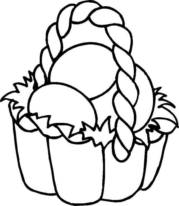 600x692 Drawing Easter Basket Fill With Eggs Coloring Page Batch Coloring