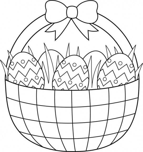 600x639 Printable Easter Colouring Pages