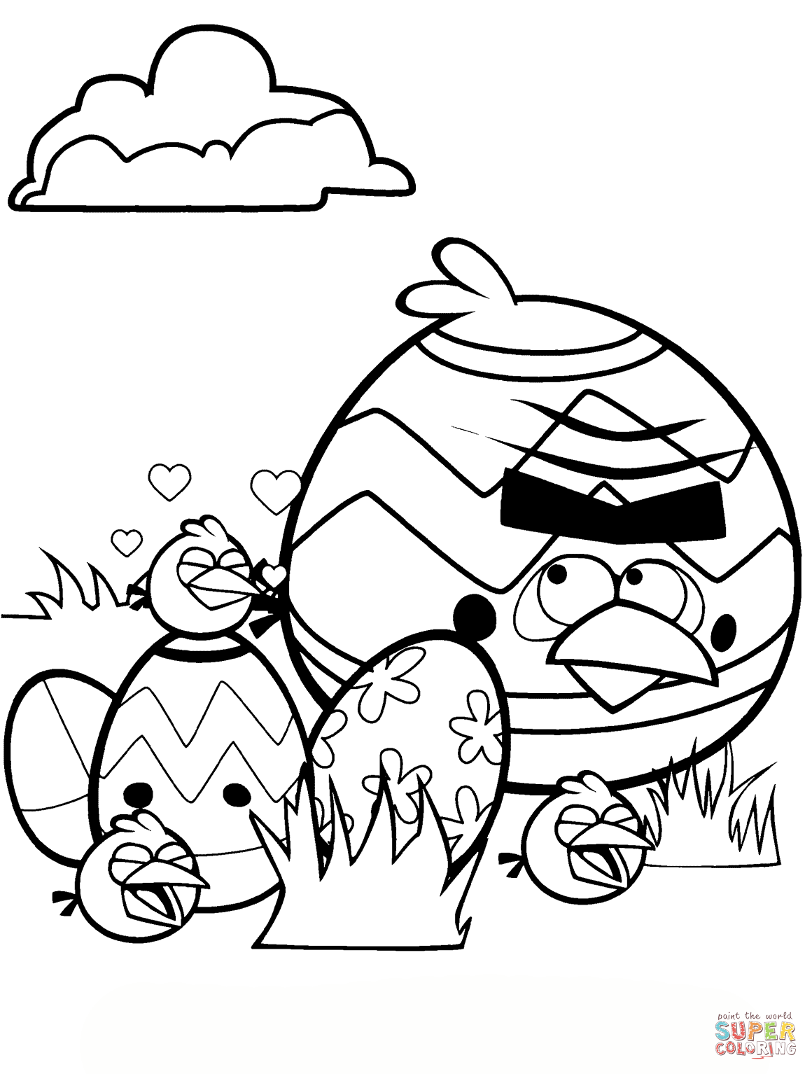 1160x1534 Angry Birds Easter Tournament Coloring Page Free Printable