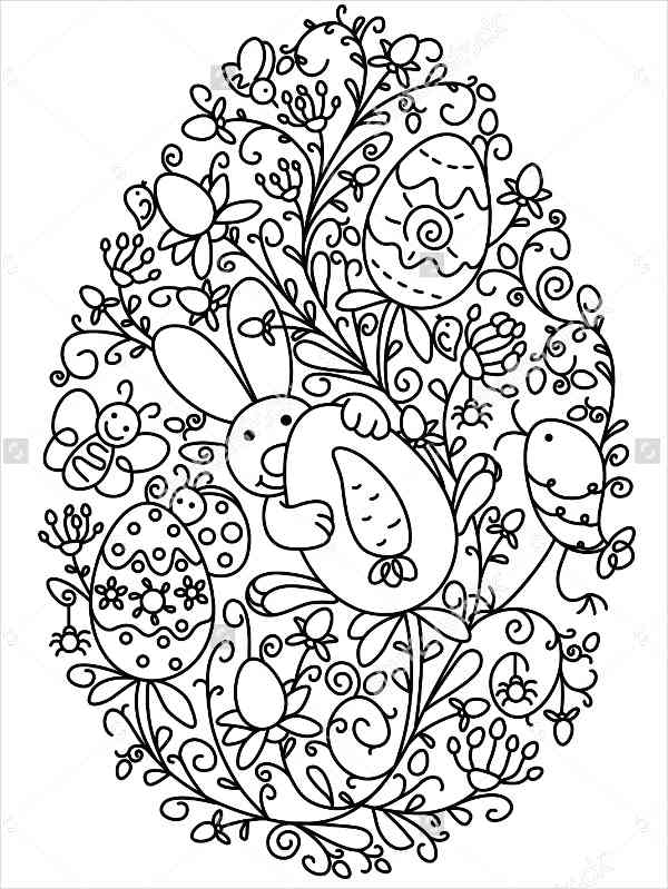 Easter Drawing Templates At GetDrawings