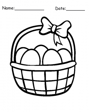 Easter Egg Basket Drawing At GetDrawings