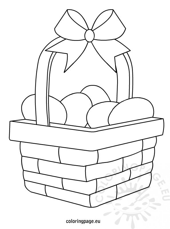 595x804 Easter Egg Basket Coloring Page