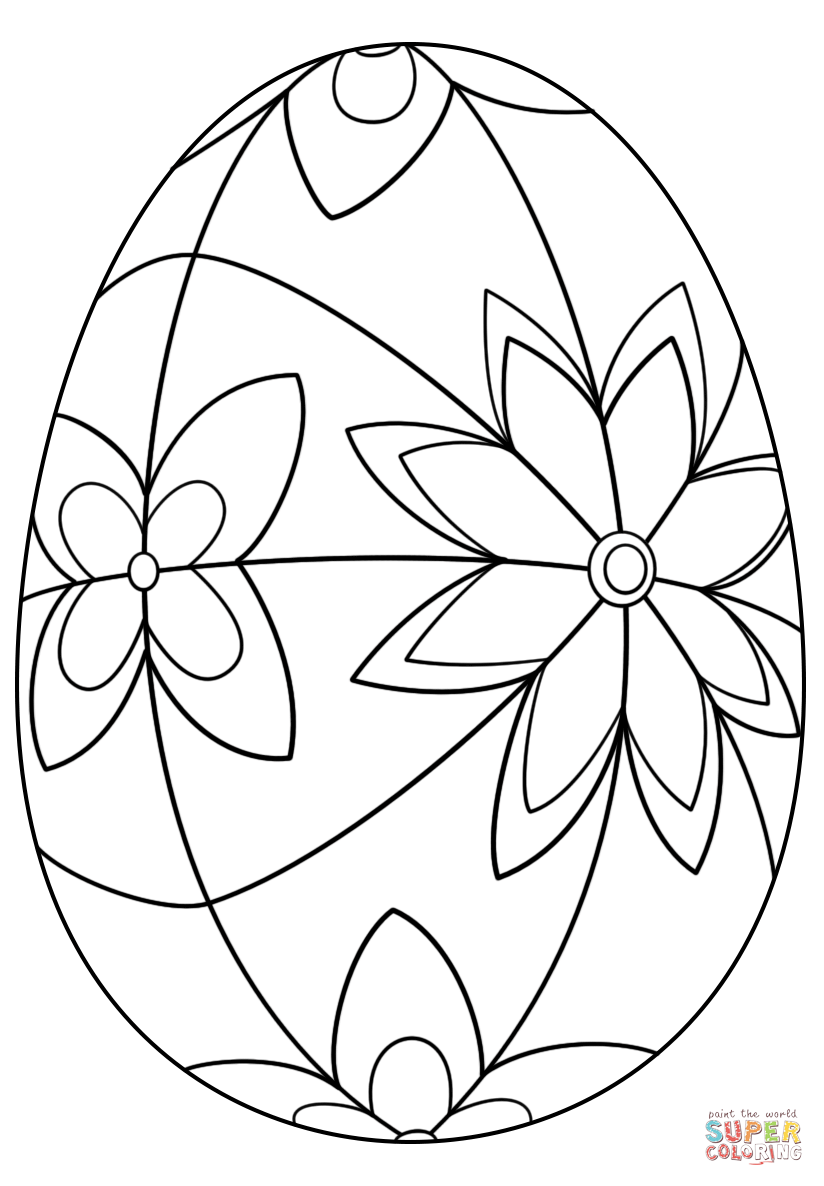 824x1186 Detailed Easter Egg Coloring Page Free Printable Pages