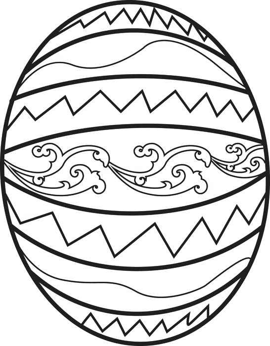546x700 Easter Egg Coloring Pages Or Printable Egg Coloring Page For Kids