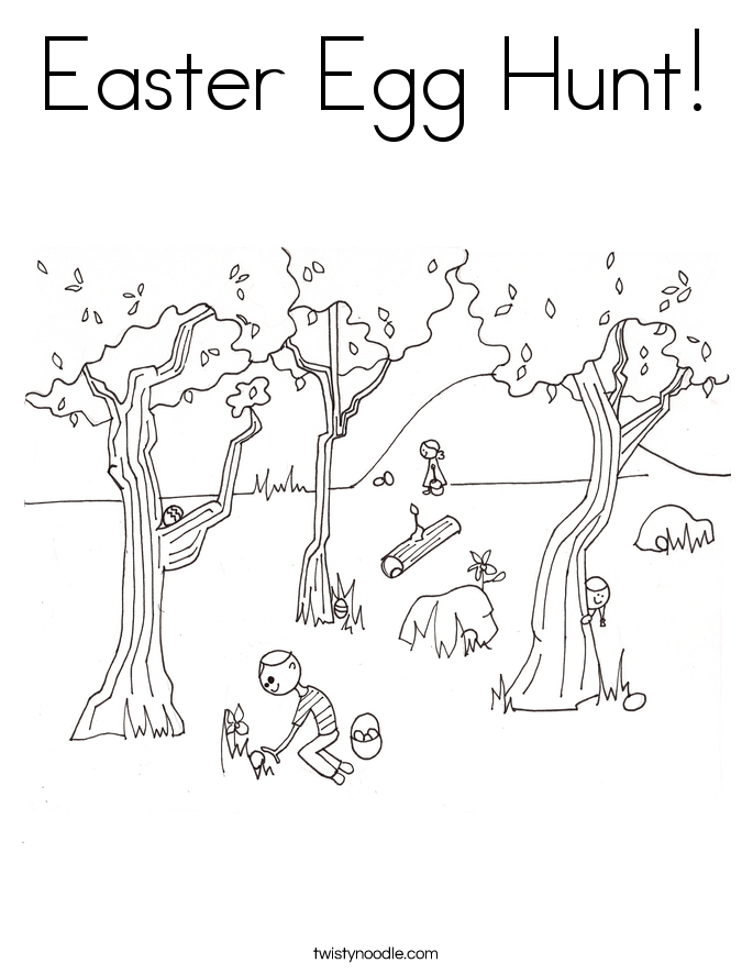 685x886 Easter Egg Hunt Coloring Page