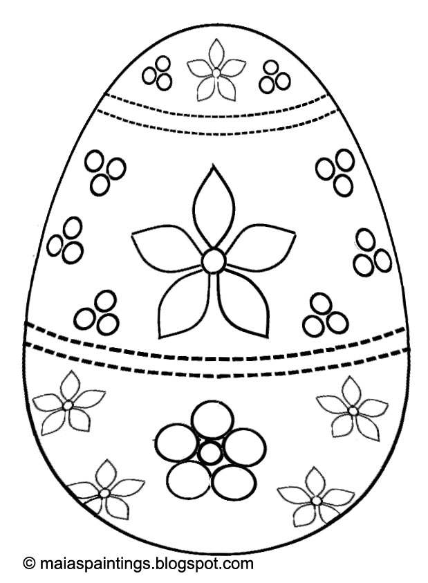 619x843 Easter Egg Coloring Page For Kids Egg Painting Model