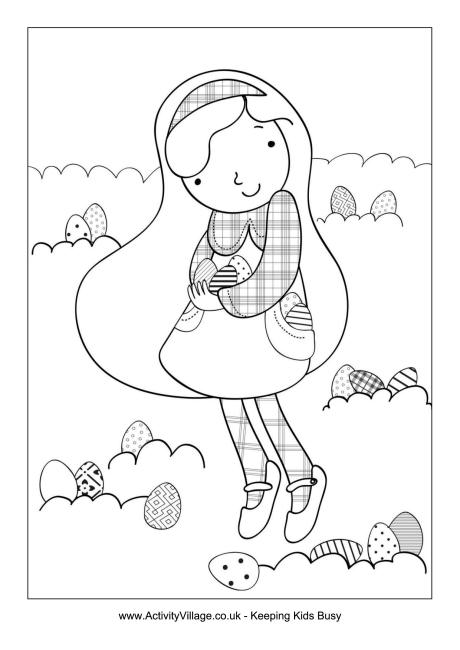 460x650 Easter Egg Hunt Coloring Page Pages Pinterest