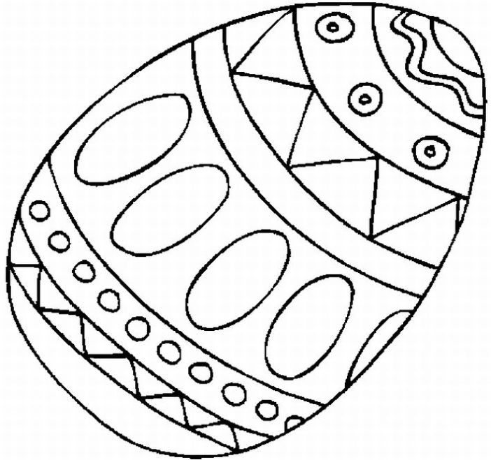 702x659 Plain Easter Egg Coloring Pages