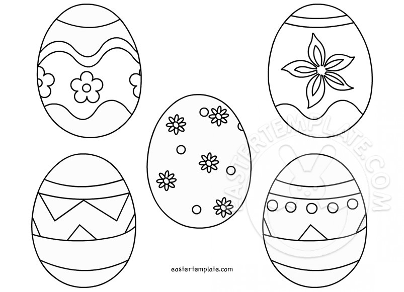 small easter egg template - easter egg drawing template at free for