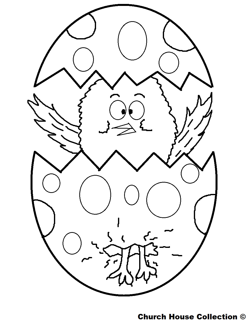 Simple X Early Play Templates Easter Chick Images With Outline Chicks Broken Egg Coloring Pages