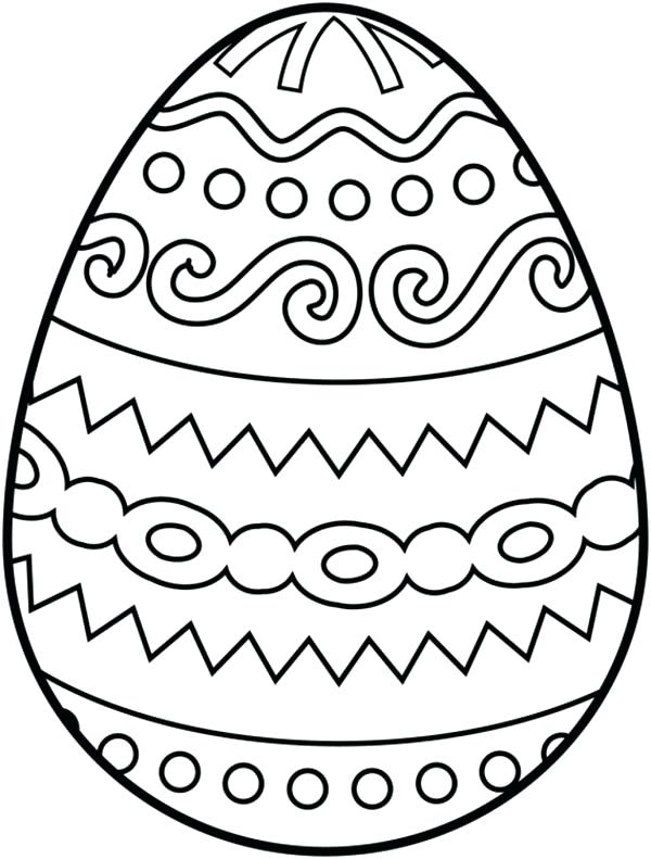 Easter Egg Drawing To Colour at GetDrawings | Free download
