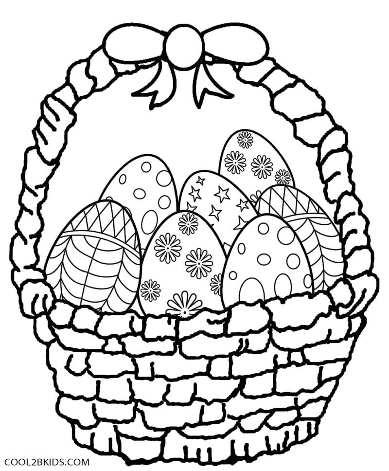 800x968 Easter Eggs Coloring Pages