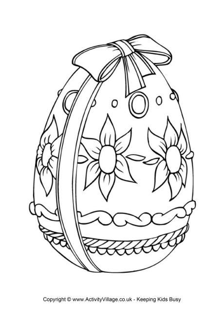 460x650 Easter Egg Colouring Page 2 Pinterest Coloring