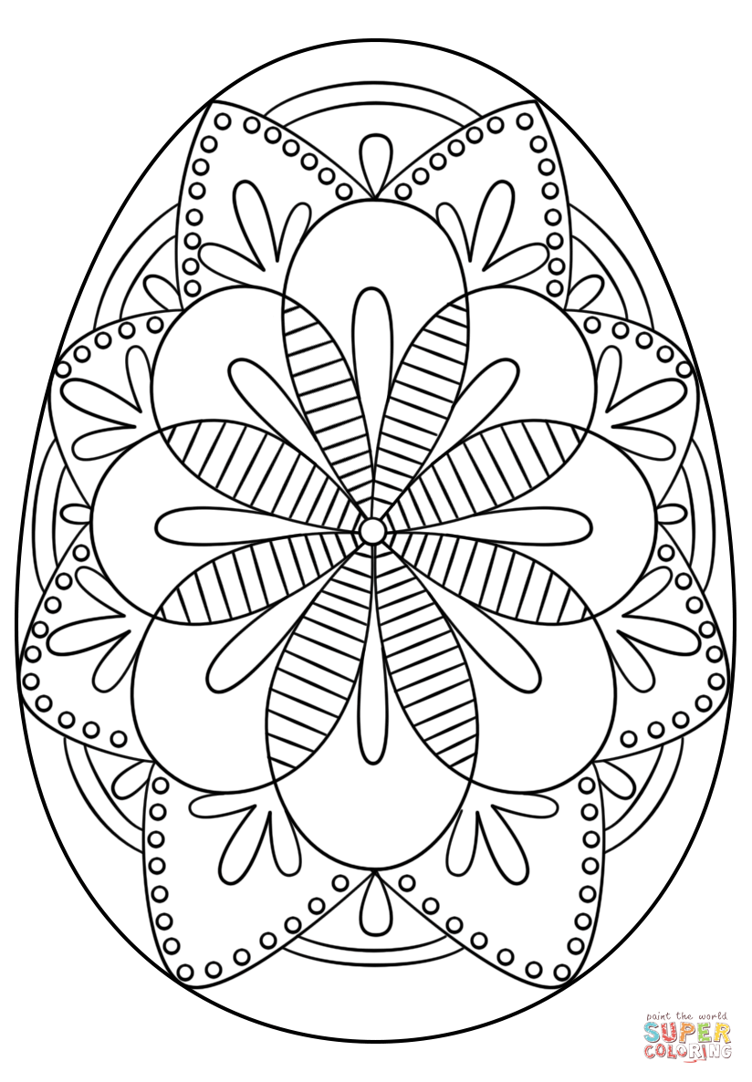 824x1186 Intricate Easter Egg Coloring Page Free Printable Pages