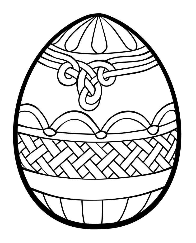 826x1023 Easter Coloring Pages Celtic Knot Egg Page