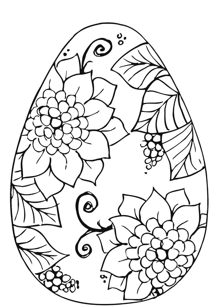 736x1025 Coloring Pages Exquisite Easter Egg