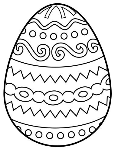390x503 Coloring Pages Of Easter Eggs Color Bros