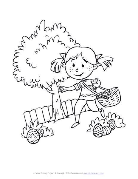 463x600 Easter Egg Hunt Coloring Page All Kids Network