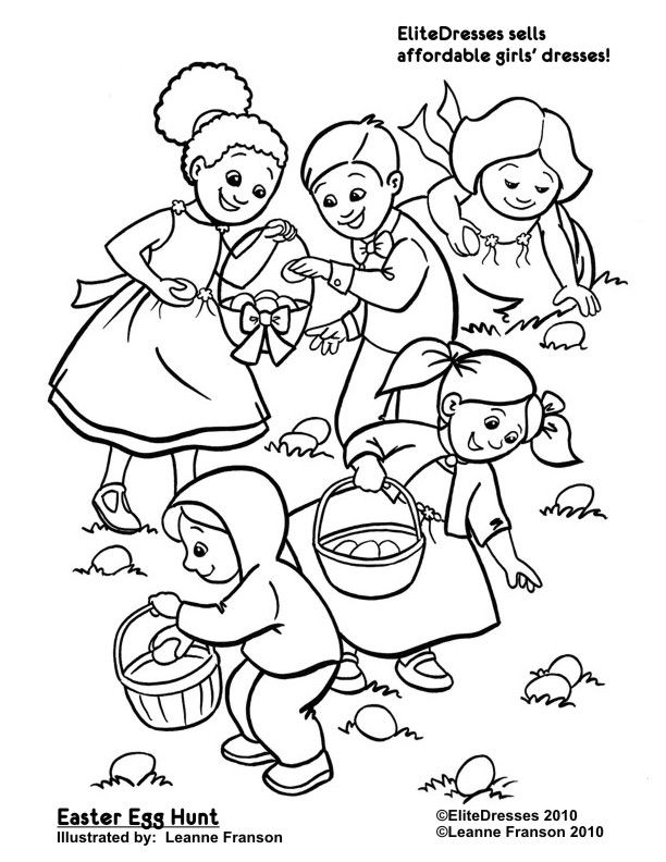 612x792 Easter Egg Hunt Coloring Pages