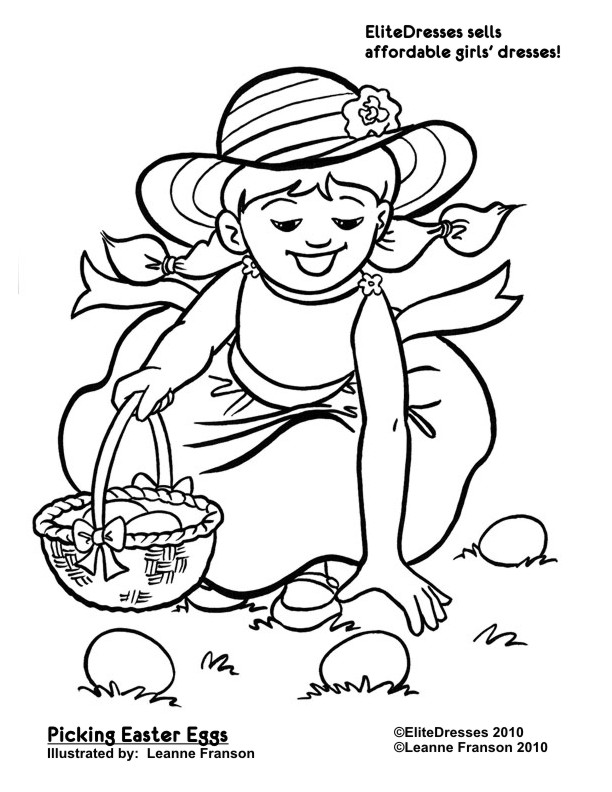 612x792 Easter Egg Hunt Coloring Pages Happy Easter 2018