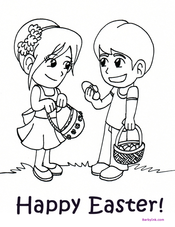 612x792 Print Free Easter Coloring Pages, Like These Cute Kids On