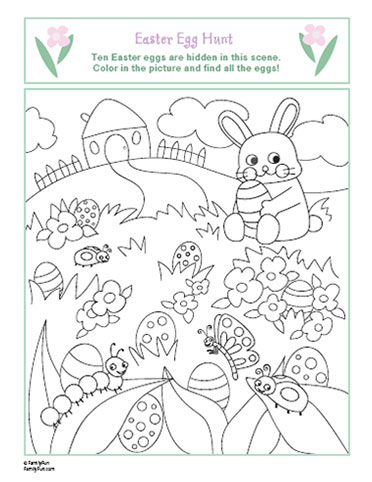 372x482 Spring Coloring Page Easter Egg Hunt FREE CRAFT PDF DOWNLOADS