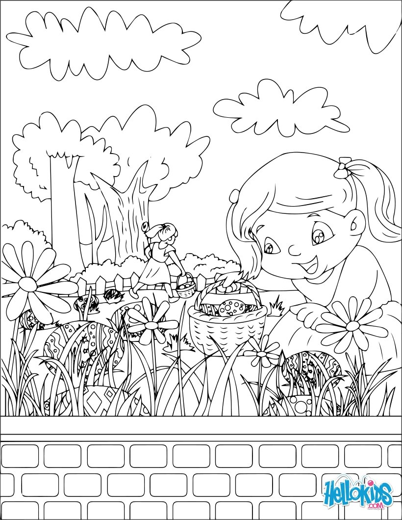 820x1060 Chocolate Egg Hunt Coloring Pages
