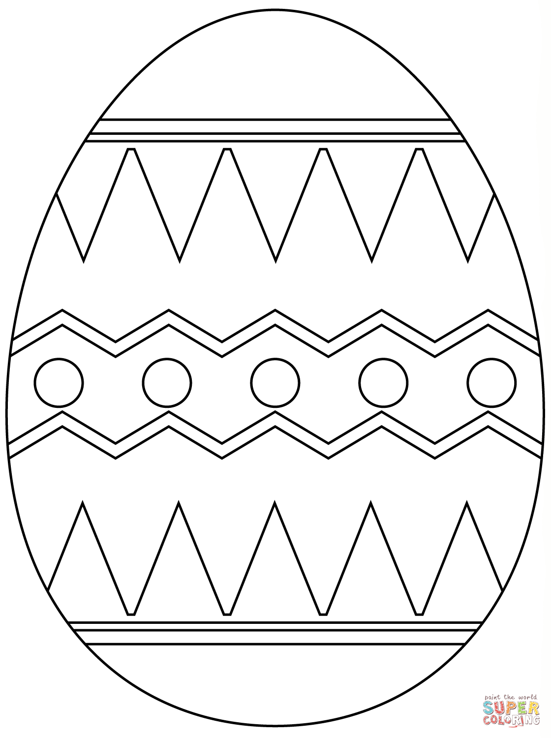 1120x1500 Easter Egg With Abstract Pattern Coloring Page Free Printable