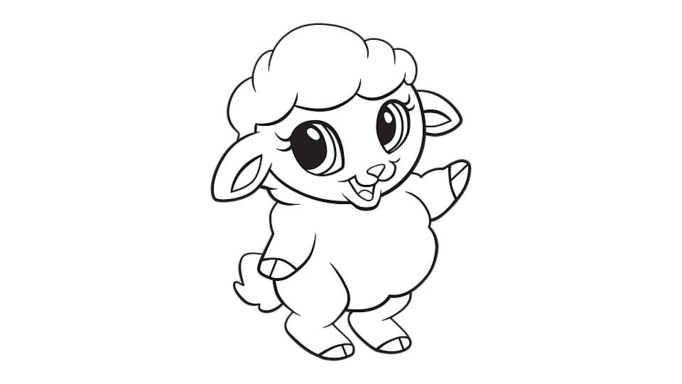 960x540 Lamb Coloring Pages
