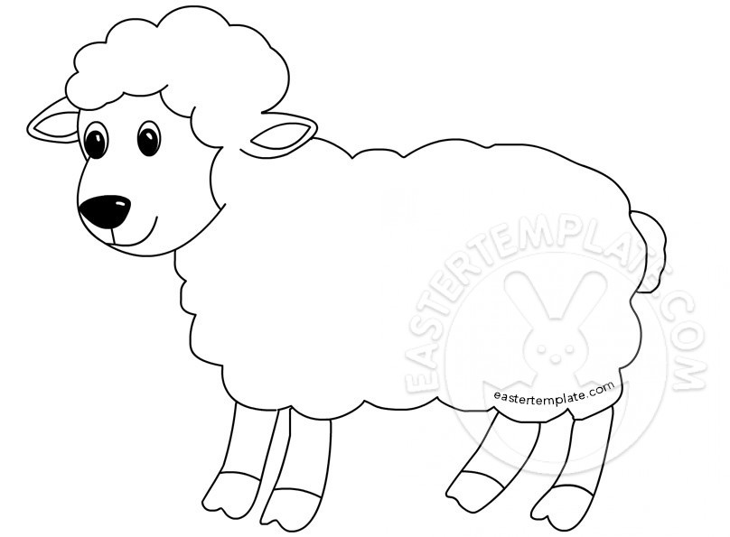 Easter Lamb Drawing at GetDrawings.com | Free for personal use ...