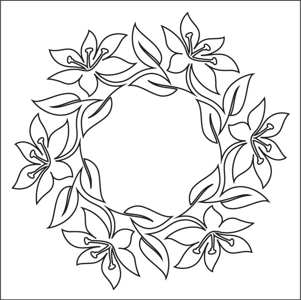 600x599 Easter Lily Block