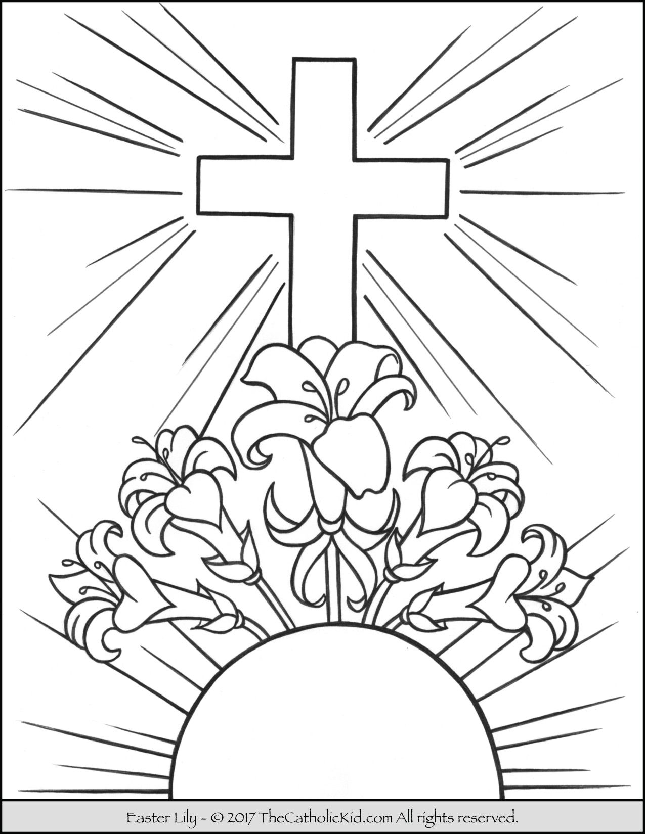 1275x1650 Easter Lily Coloring Page Catholic Coloring Pages For Kids