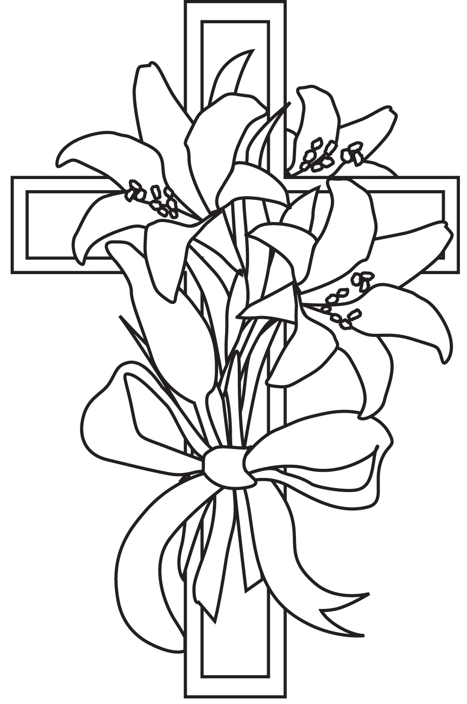923x1392 Easter Lily Drawing Hd Easter Images