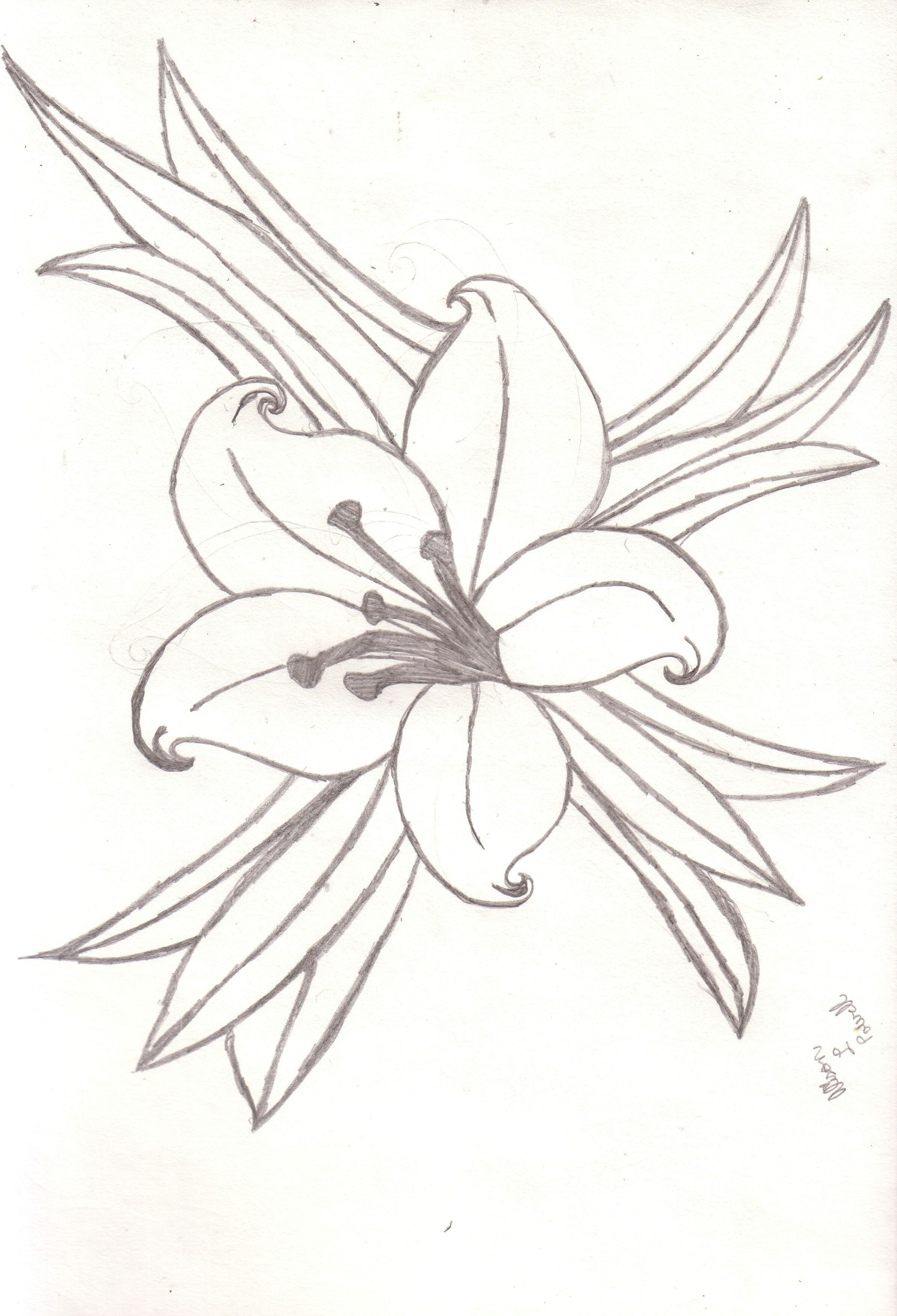 2388x3504 Easter Lily Tattoos Easter Lily Tattoo Designs