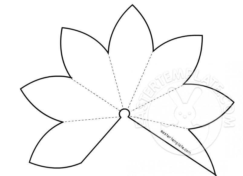 803x581 Easter Lily Template Easter Template